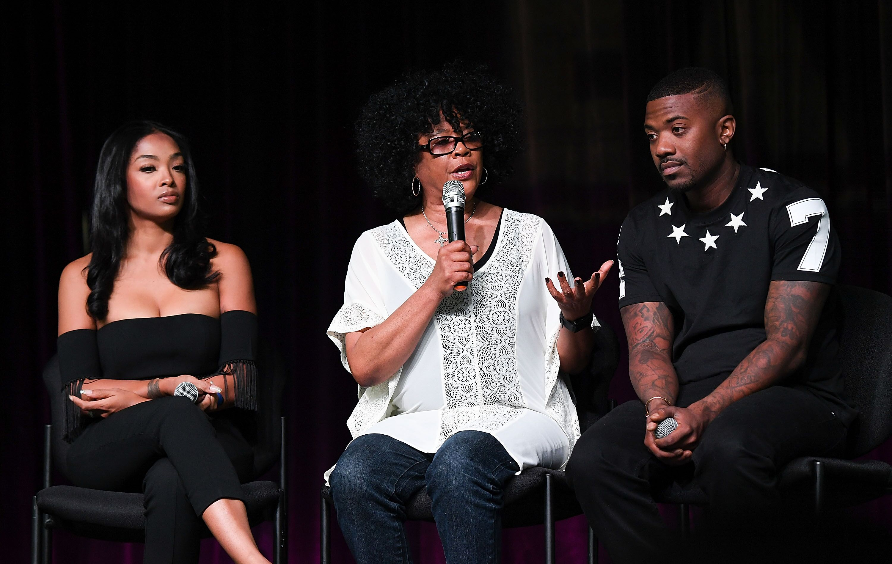 Princess Love, Sonja Norwood, and Ray J at the Atlanta Ultimate Women's Expo/ Source: Getty Images