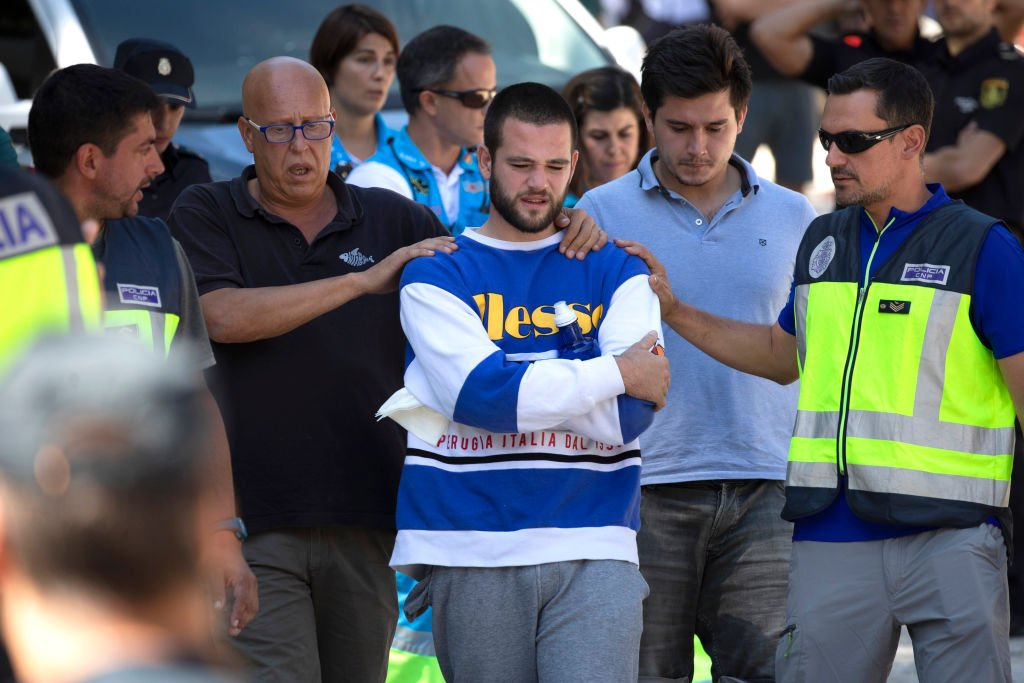 David Fresneda, hijo de Blanca Fernández Ochoa, mientras buscan a su madre el 04 de septiembre de 2019 en Las Dehesas, España. | Imagen: Getty Images