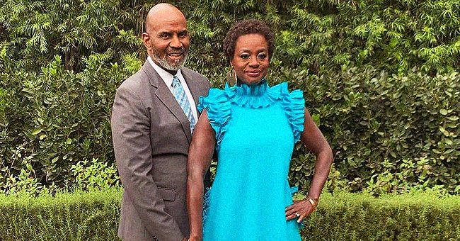 Viola Davis Stuns in Blue Dress While Holding Hands with Her Husband of 17 Years Julius Tennon