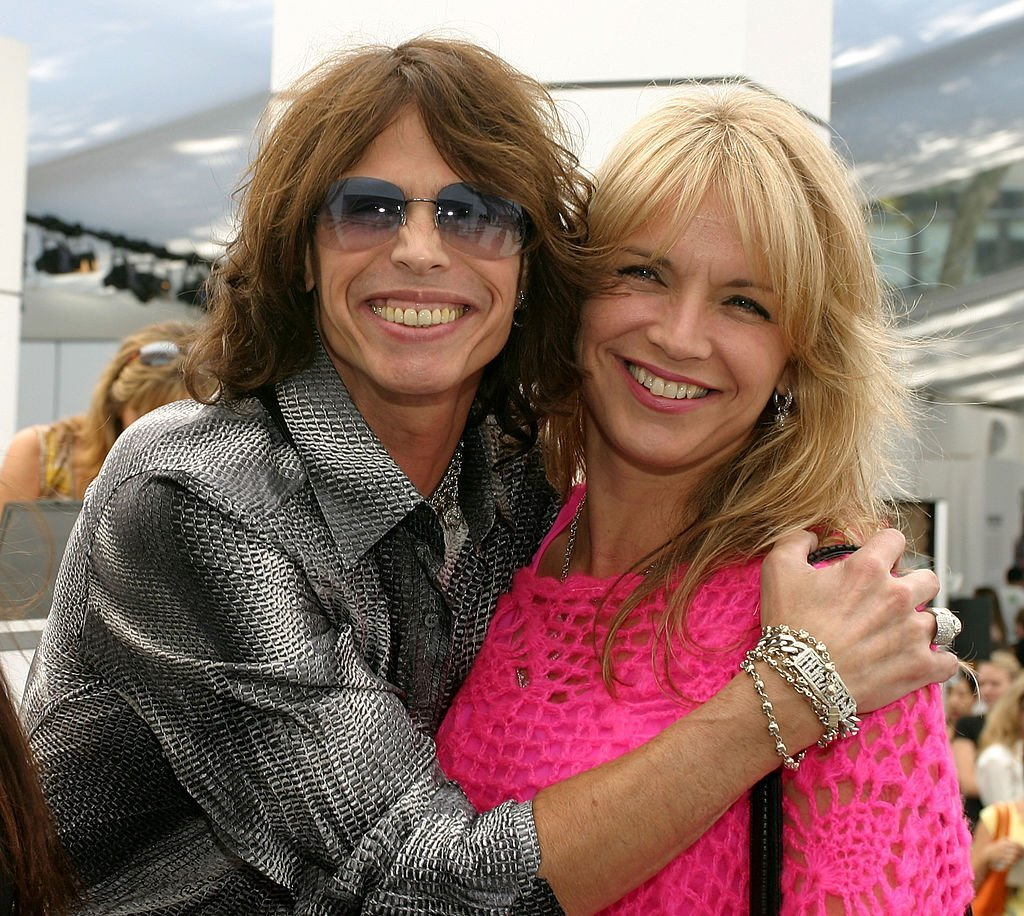 Steven Tyler and Teresa Barrick at the Olympus Fashion Week Spring 2005 | Photo: GettyImages