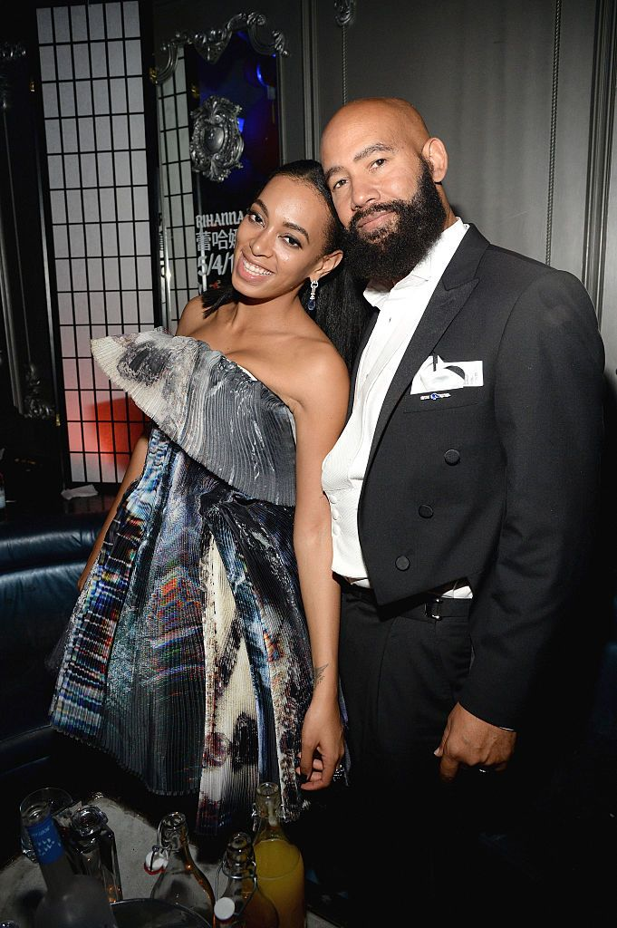 Solange Knowles and Alan Ferguson during Rihanna's private Met Gala after-party at Up & Down on May 4, 2015 in New York City.  | Source: Getty Images