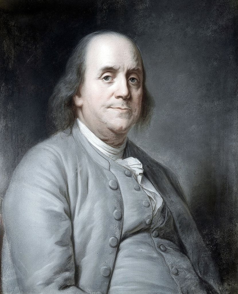 Portrait of Benjamin Franklin (1706-1790) American printer, publisher, scientist, inventor, statesman and diplomat.   Photo: Getty Images