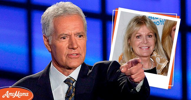 Photo of Alex Trebek and a photo of his first wife, Elaine Trebek Kares | Photo: Getty Images