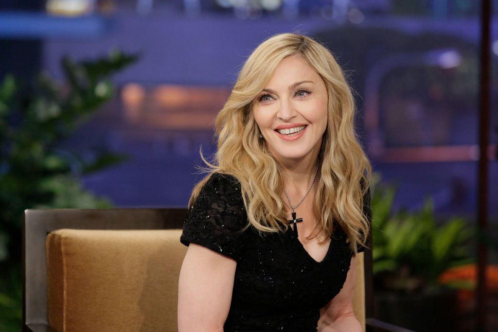Madonna at an interview on the Tonight Show with Jay Lenoon on January 30, 2012 | Photo: Getty Images