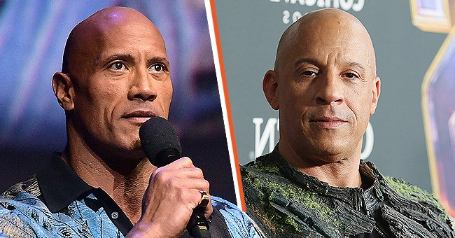 """Dwayne """"The Rock"""" Johnson in Las Vegas in April 2019 and Vin Diesel in Los Angeles in April 2019   Photo: Getty Images"""