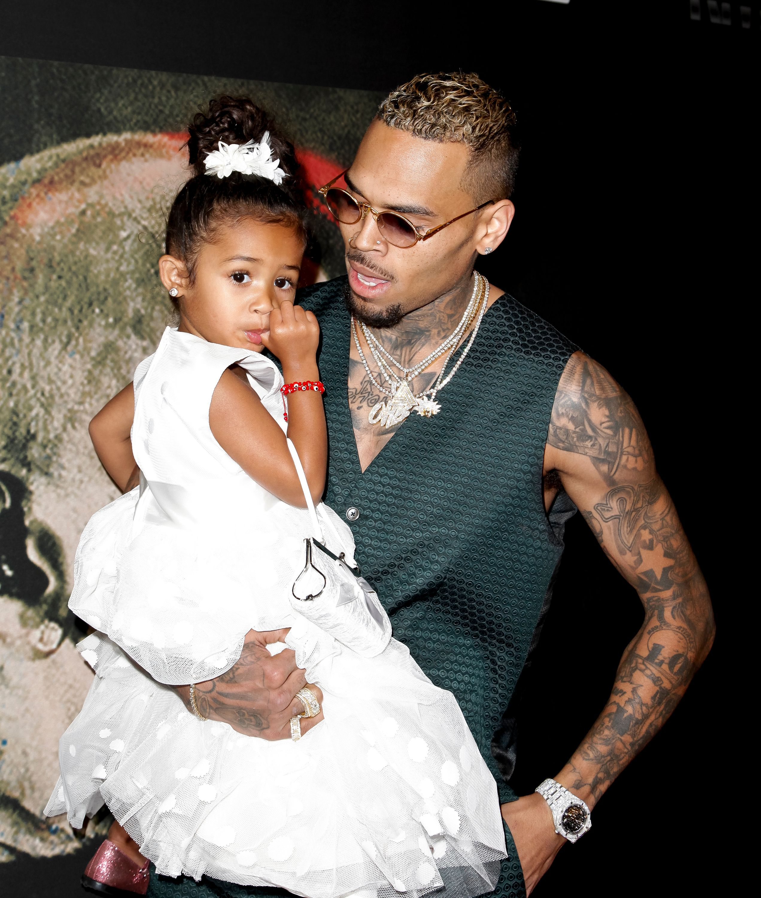 Royalty Brown and Chris Brown attend the premiere of Fathom Events 'Chris Brown: Welcome To My Life' at Regal LA Live Stadium 14 on June 6, 2017 in Los Angeles, California. | Source: Getty Images