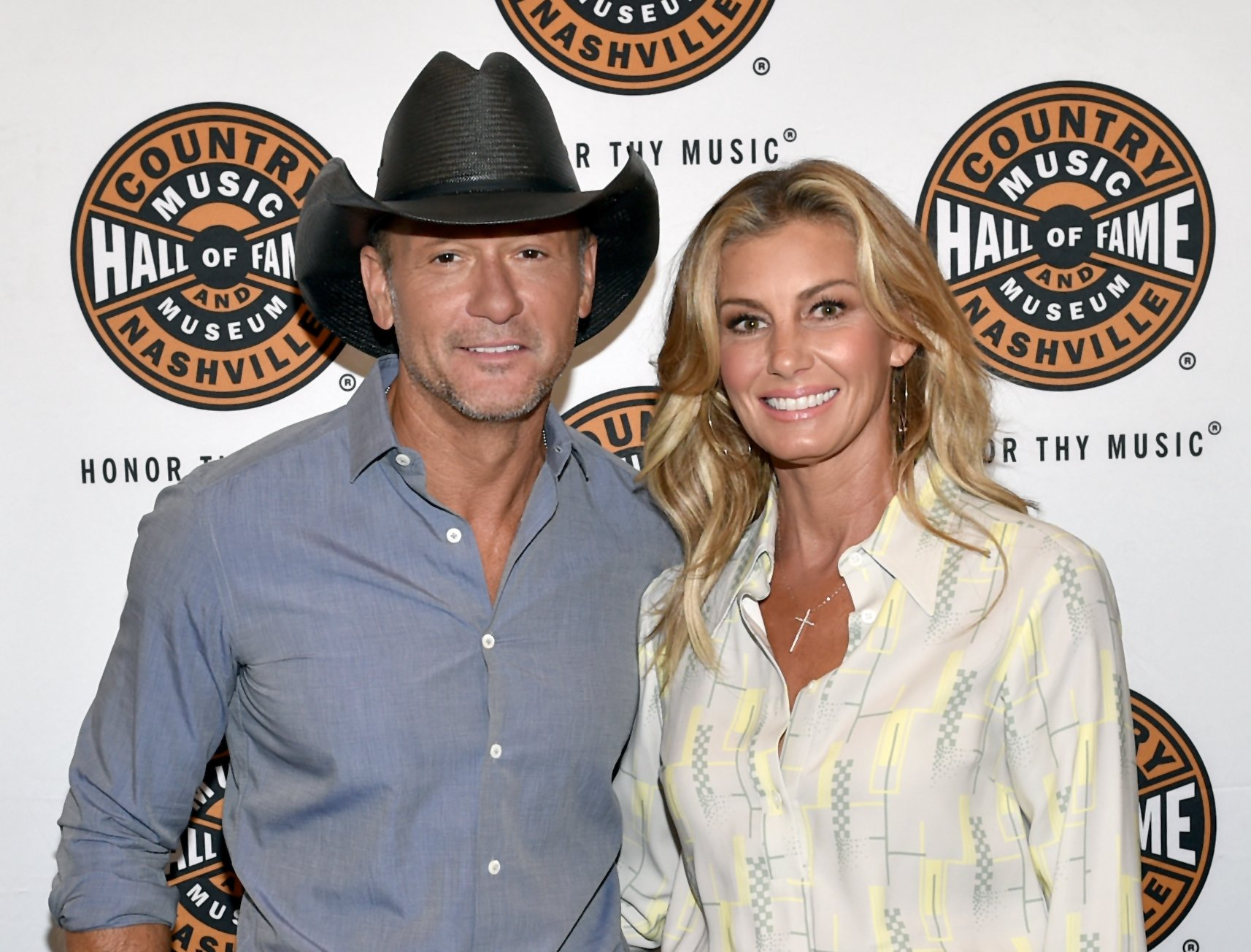 Tim McGraw and Faith Hill at The Country Music Hall Of Fame And Museum's CMA Theater on May 3, 2018, in Nashville, Tennessee.   Source: Getty Images.
