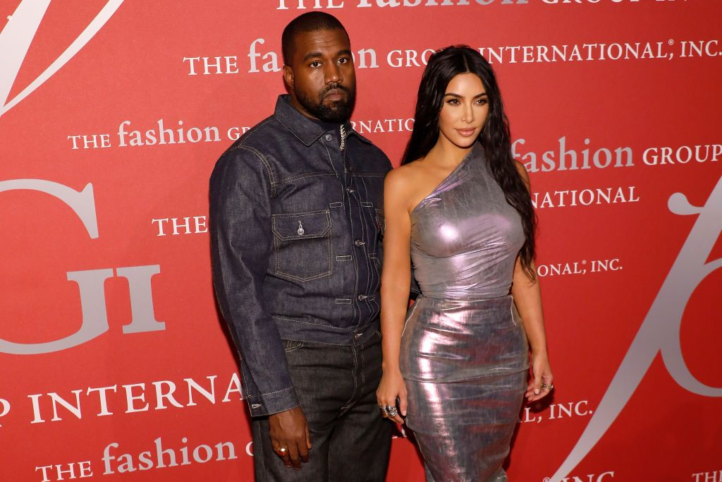 Kanye West and Kim Kardashian West at Fashion Group International's 2019 Night of Stars at Cipriani Wall Street on October 24, 2019   Source: Getty Images