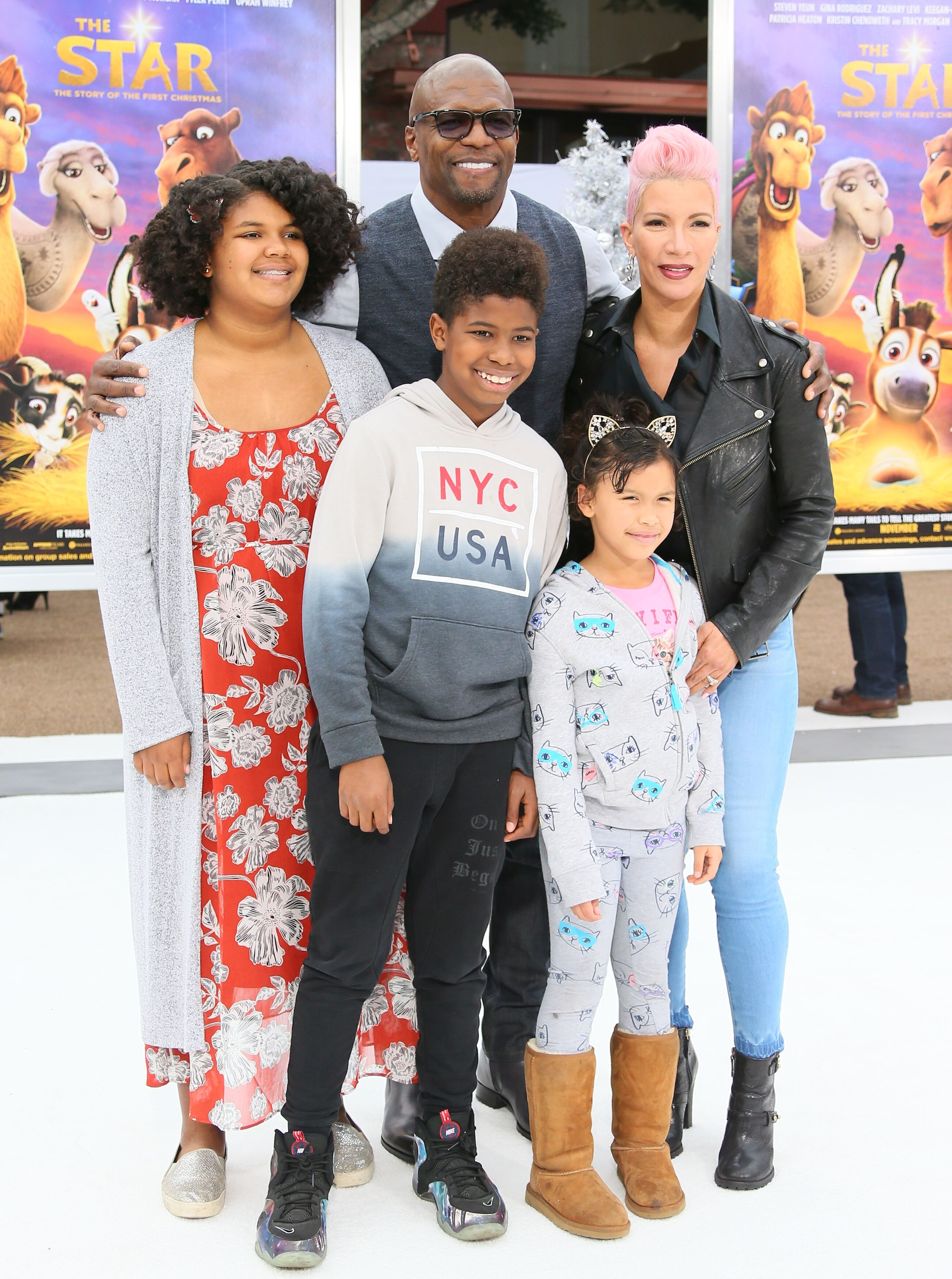 Terry Crews and family attend the premiere of Columbia Pictures' 'The Star' on November 12, 2017 in Los Angeles, California | Getty Images