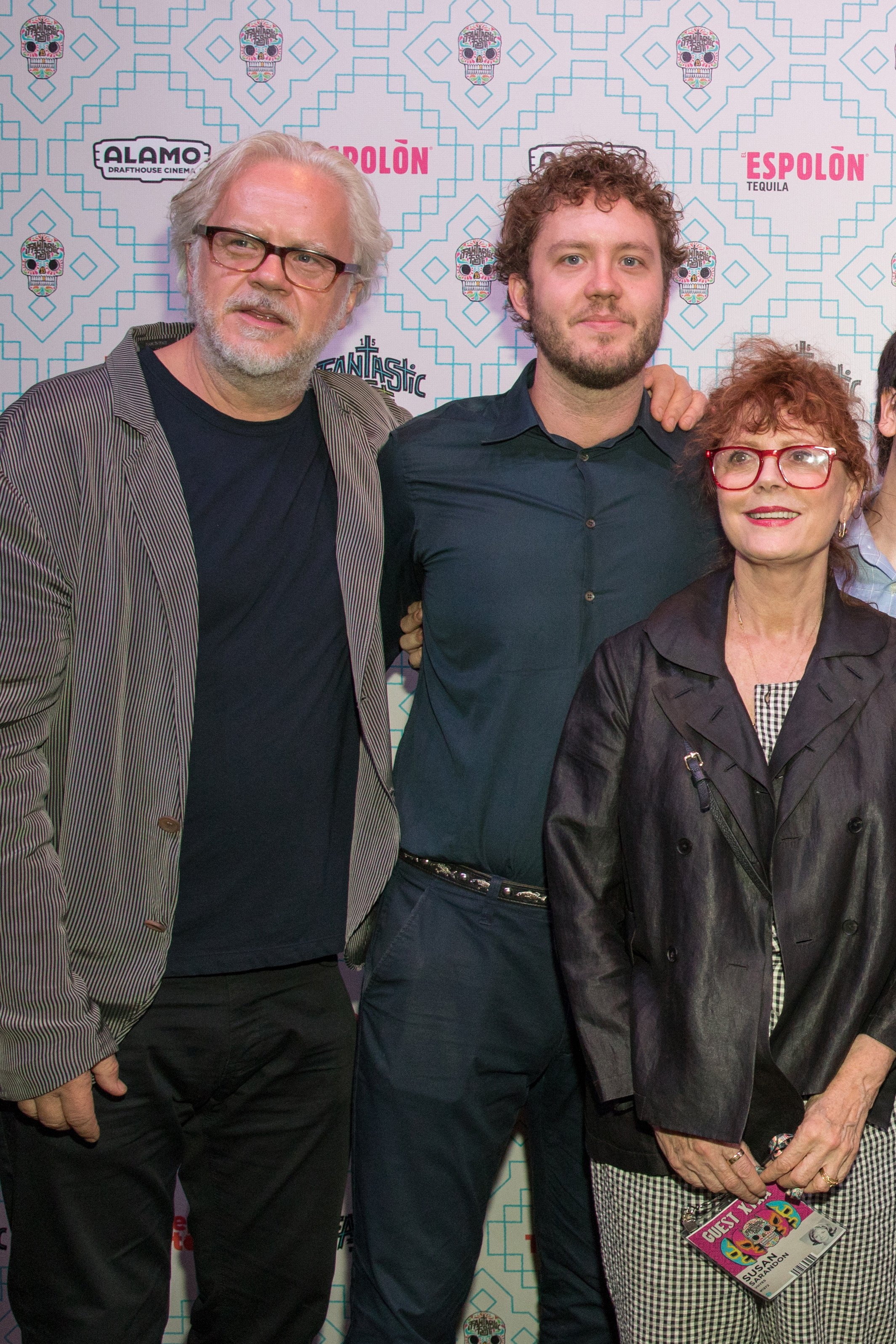 """Tim Robbins and Susan Sarandon with their son Jack Henry Robbins at the premiere of """"VHYes"""" in Austin, September 2019.   Photo: Getty Images."""