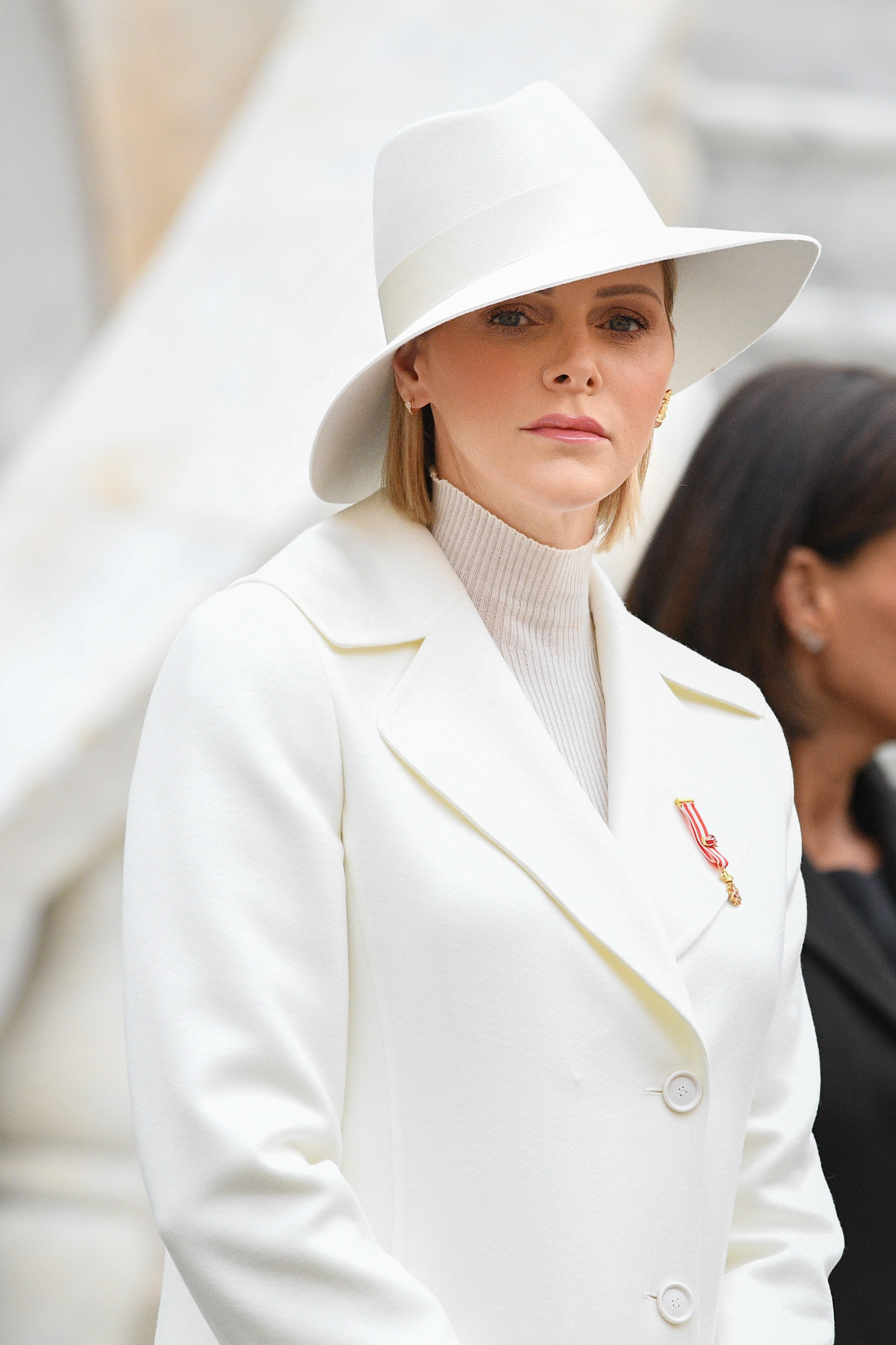Princess Charlene of Monaco attends the celebrations marking Monaco's National Day at the Monaco Palace in Monaco, 19 November 2019 | Photo: Getty Images