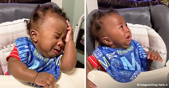 Adorable Moment Baby Face-Palms and Erupts in Tears after Seeing Father's New Haircut