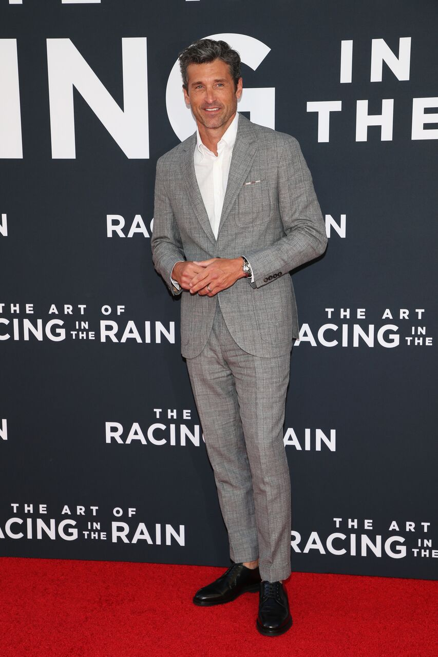 "Patrick Dempsey attends the premiere of 20th Century Fox's ""The Art Of Racing In The Rain."" 