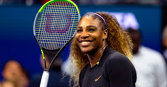 Serena Williams' Daughter Olympia Wears Long Blue Dress as She Plays with Balloons in New Photo
