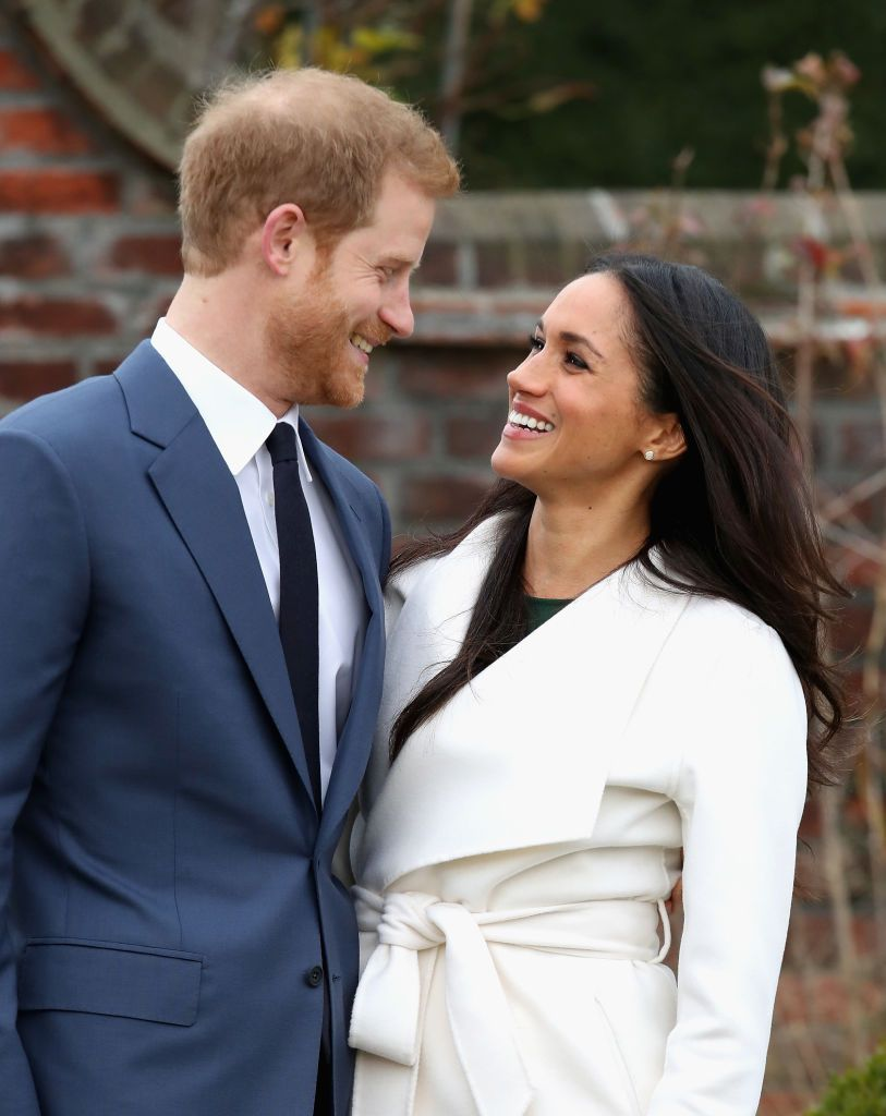 Prince Harry and Meghan Markle during an official photocall to announce their engagement at Kensington Palace on November 27, 2017, in London, England | Photo: Chris Jackson/Getty Images
