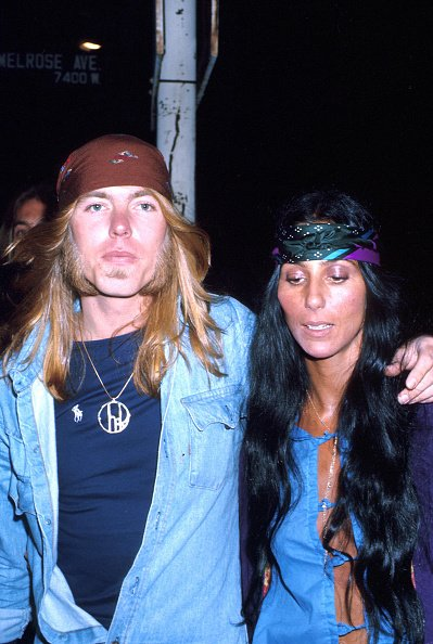 Cher and Gregg Allman at an event in March 1979. | Photo: Getty Images
