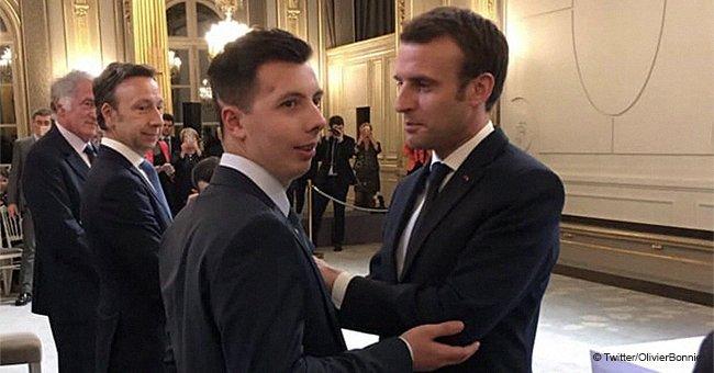 Un étudiant a été décoré de la Légion d'honneur par Emmanuel Macron pour avoir sacrifié sa santé en défendant un couple