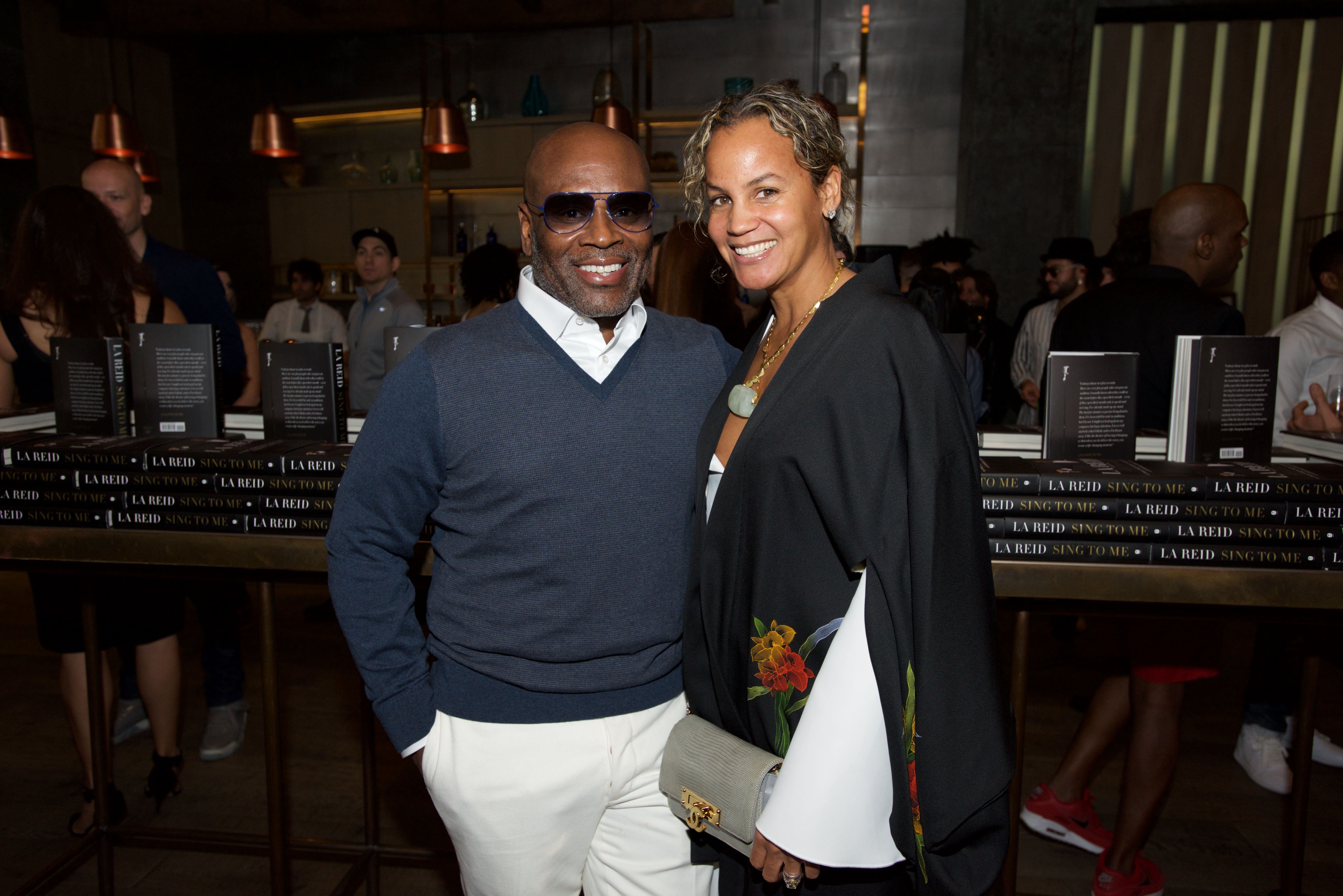 """LA and Erica Reid attend the LA Reid """"Sing To Me"""" Pre-Grammy Brunch at Hinoki & The Bird on February 13, 2016 in Los Angeles, California   Source: Getty Images"""