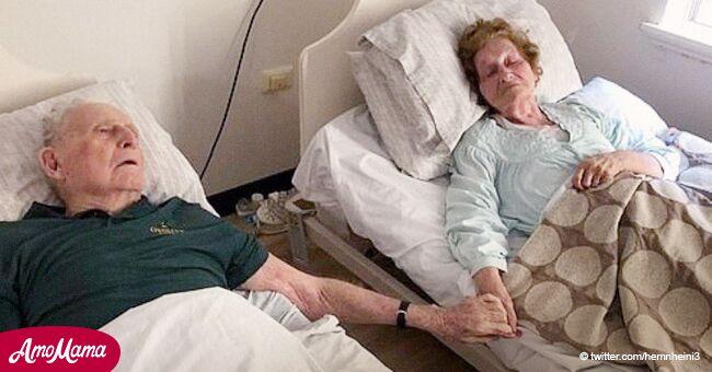 Pareja casada por 70 años muere con minutos de diferencia tomada de las manos