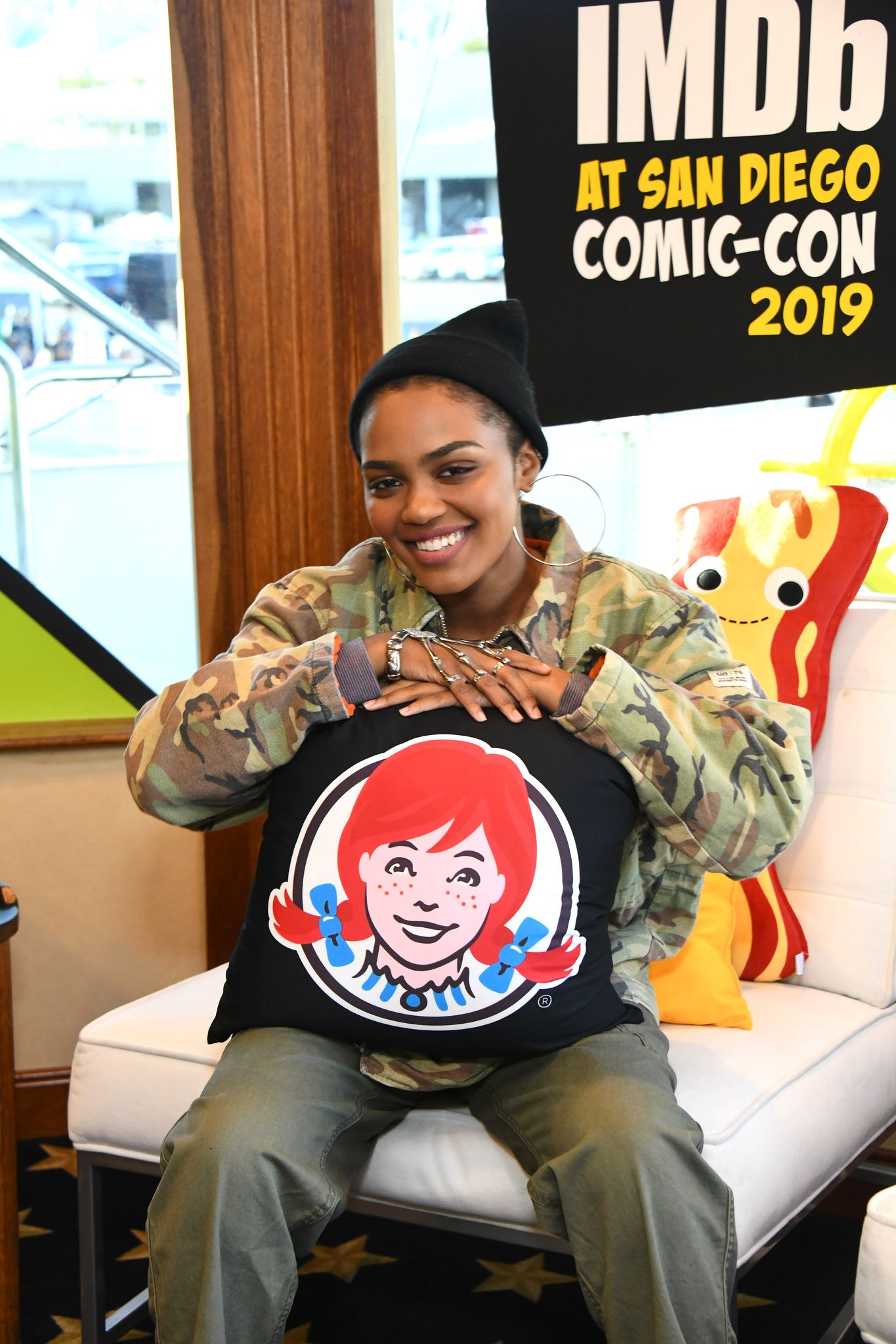 China Anne McClain at the IMDb Fan Party at Comic-Con on July 18, 2019 in San Diego, California.   Photo: Getty Images