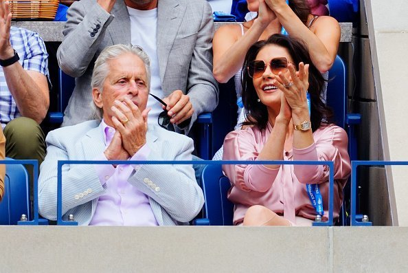 Michael Douglas and Catherine Zeta-Jones cheer on Rafael Nadal at the 2019 US Open Men's finals | Photo: Getty Images