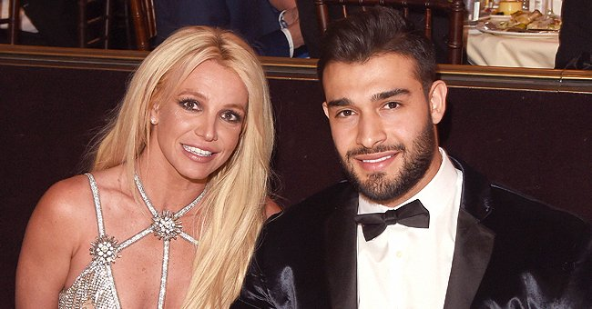 Honoree Britney Spears and Sam Asghari at the 29th Annual GLAAD Media Awards at The Beverly Hilton Hotel on April 12, 2018, in Beverly Hills, California | Photo: J. Merritt/Getty Images