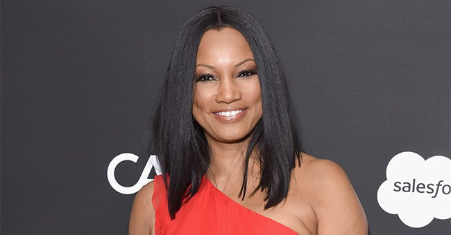 Barefoot Garcelle Beauvais Looks Ageless Showing Slim Legs in Fringed Printed Mini Dress in New Photos
