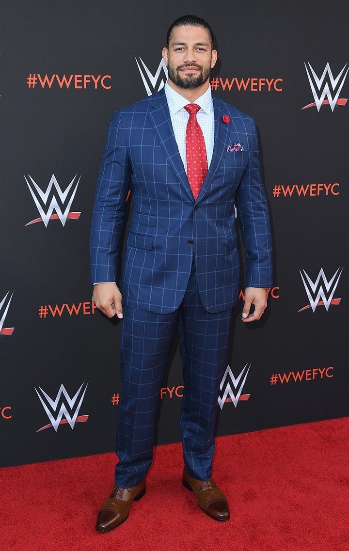 """Roman Reigns arriving at the WWE's First-Ever Emmy """"For Your Consideration"""" Event at Saban Media Center in North Hollywood, California in June 2018. I Image: Getty Images."""