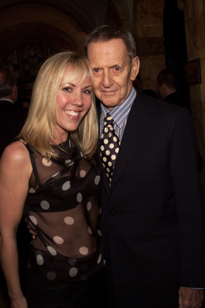 "Tony Randall with wife Heather at the ""Mr. Goldwyn"" opening night after-party at the Friar's Club in New York City. March 13, 2002 