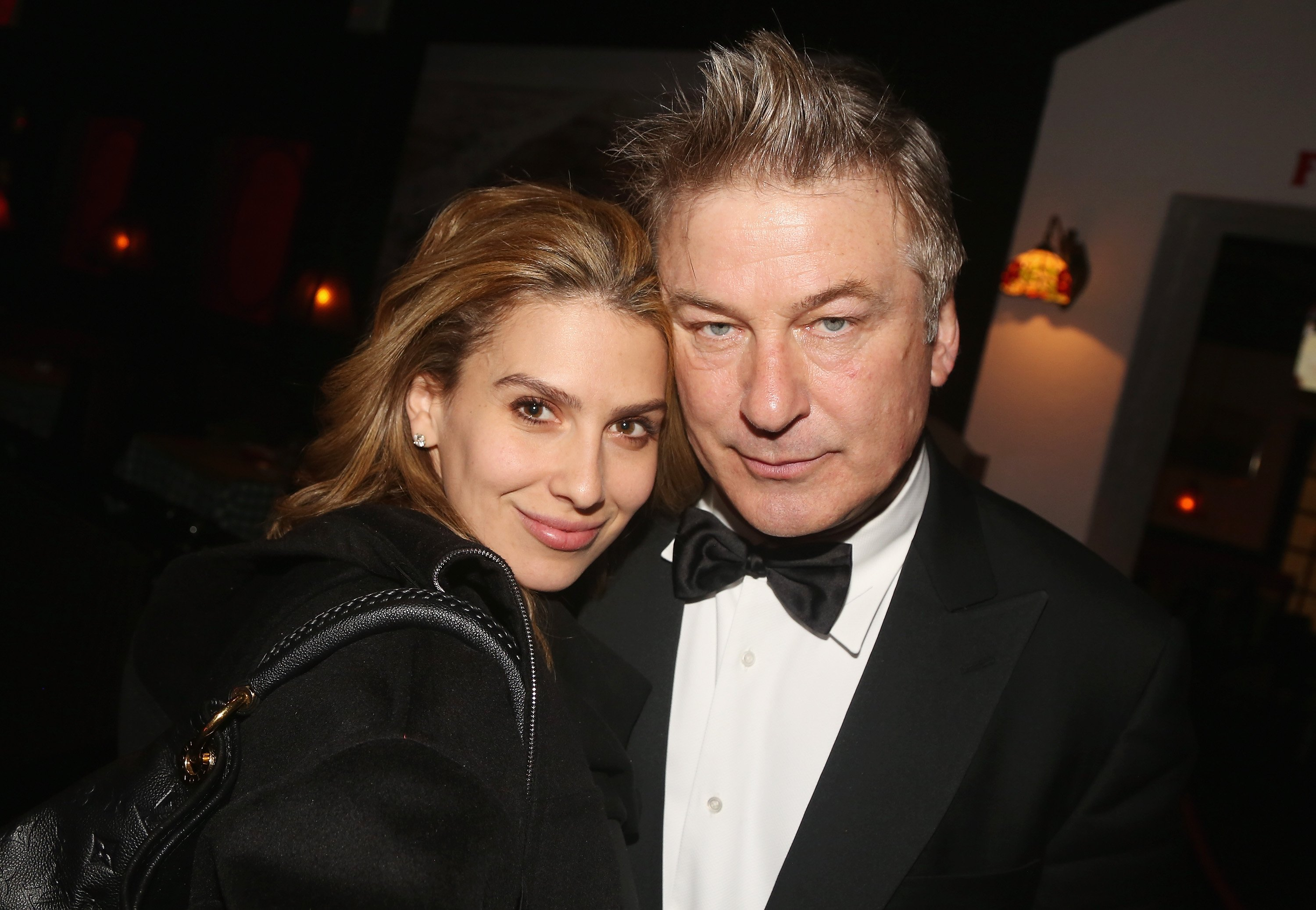 "Hilaria and Alec Baldwin pictured at the after party for The Roundabout Theatre Company benefit performance of ""Twentieth Century,"" 2019, New York City. 