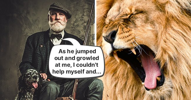 An old man told a story about his encounter with a lion | Source: Shutterstock