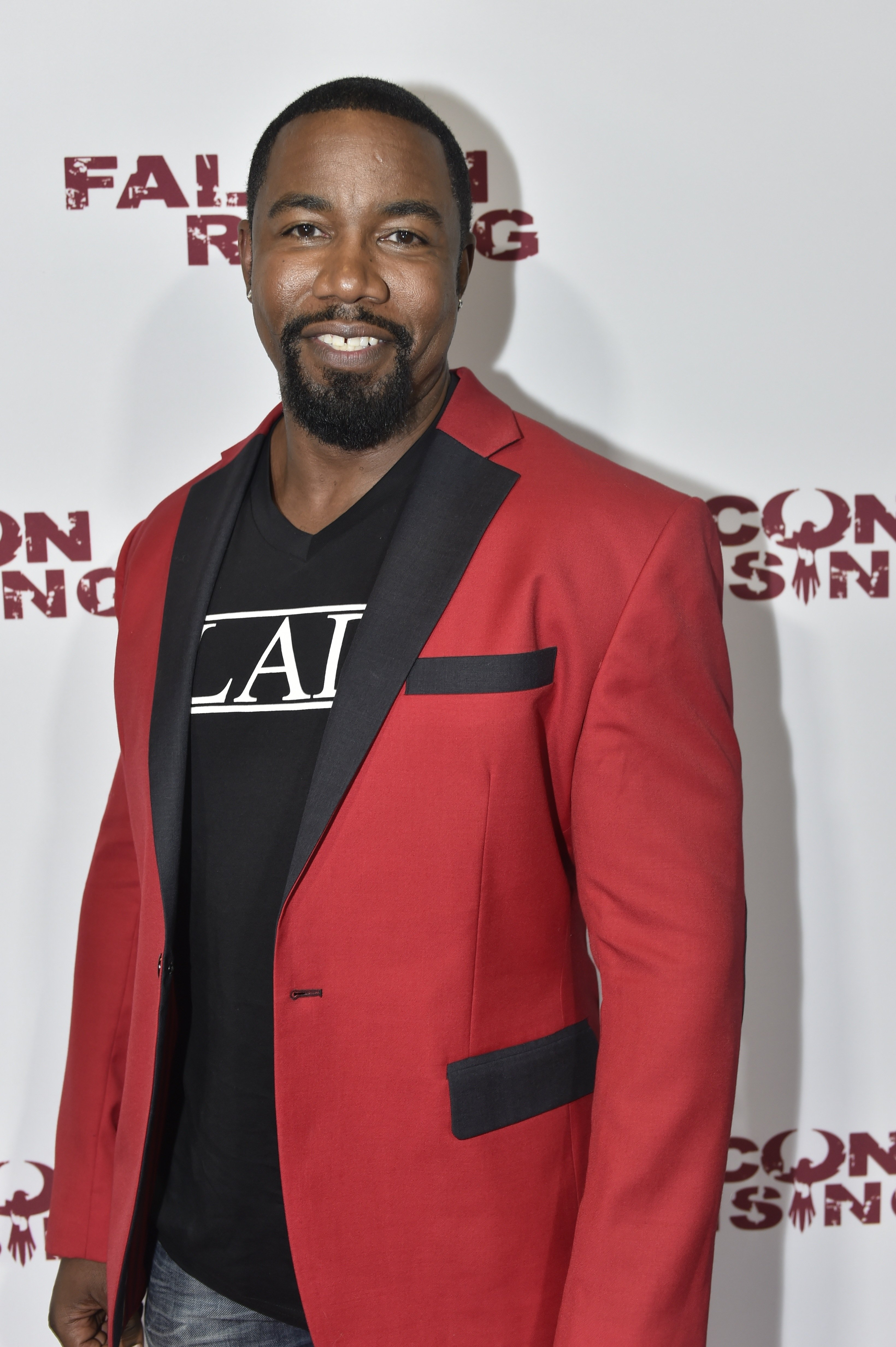 """Michael Jai White at the advance screening of """"Falcon Rising"""" movie on September 5, 2014 in Morrow, Georgia. 
