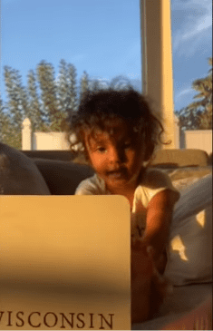 Two-year-old Kashe Quest recognizing the states by their land shape.   Photo: YouTube/ Fox 11 Los Angeles