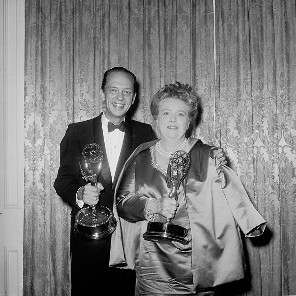 Don Knotts and Frances Bavier at the Emmy Awards on June 4, 1967. | Photo: Getty Images