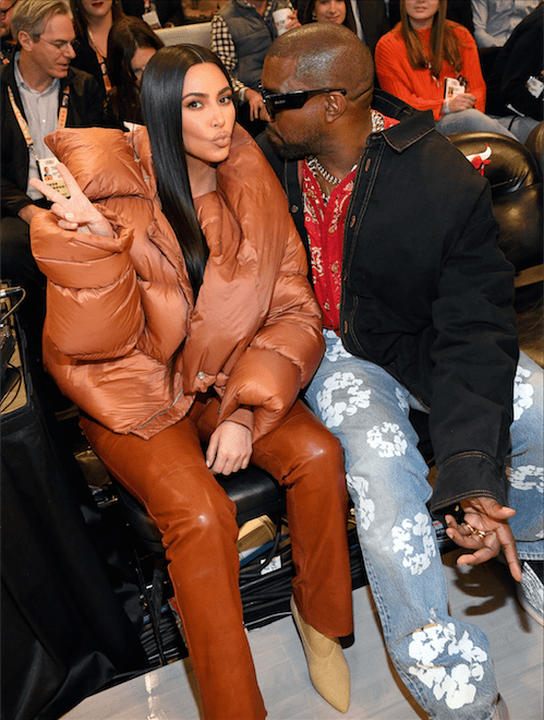 Kim Kardashian West and Kanye West attend the 69th NBA All-Star Game at United Center on February 16, 2020 in Chicago, Illinois. | Source: Getty Images