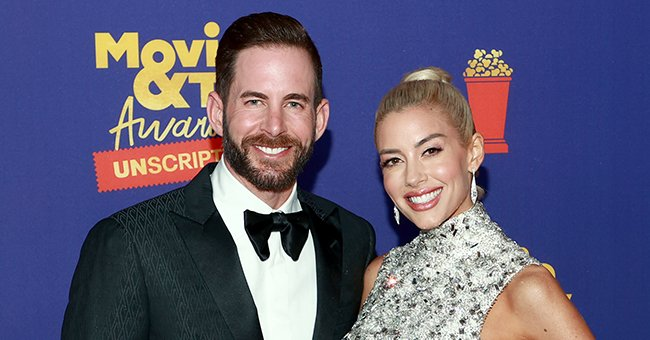 Tarek El Moussa and Heather Rae Young atthe 2021 MTV Movie & TV Awards: UNSCRIPTED in Los Angeles, Californiaon May 17, 2021   Photo:Matt Winkelmeyer/MTV/ViacomCBS/Getty Images