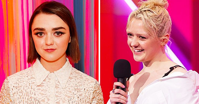 'Game of Thrones' Star Maisie Williams Sports Bleach Blond Hair and Eyebrows during the 2021 BRIT Awards