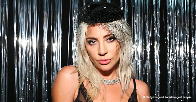 Lady Gaga pulls out all the stops wearing nothing but a black bra and fishnets at an after-party