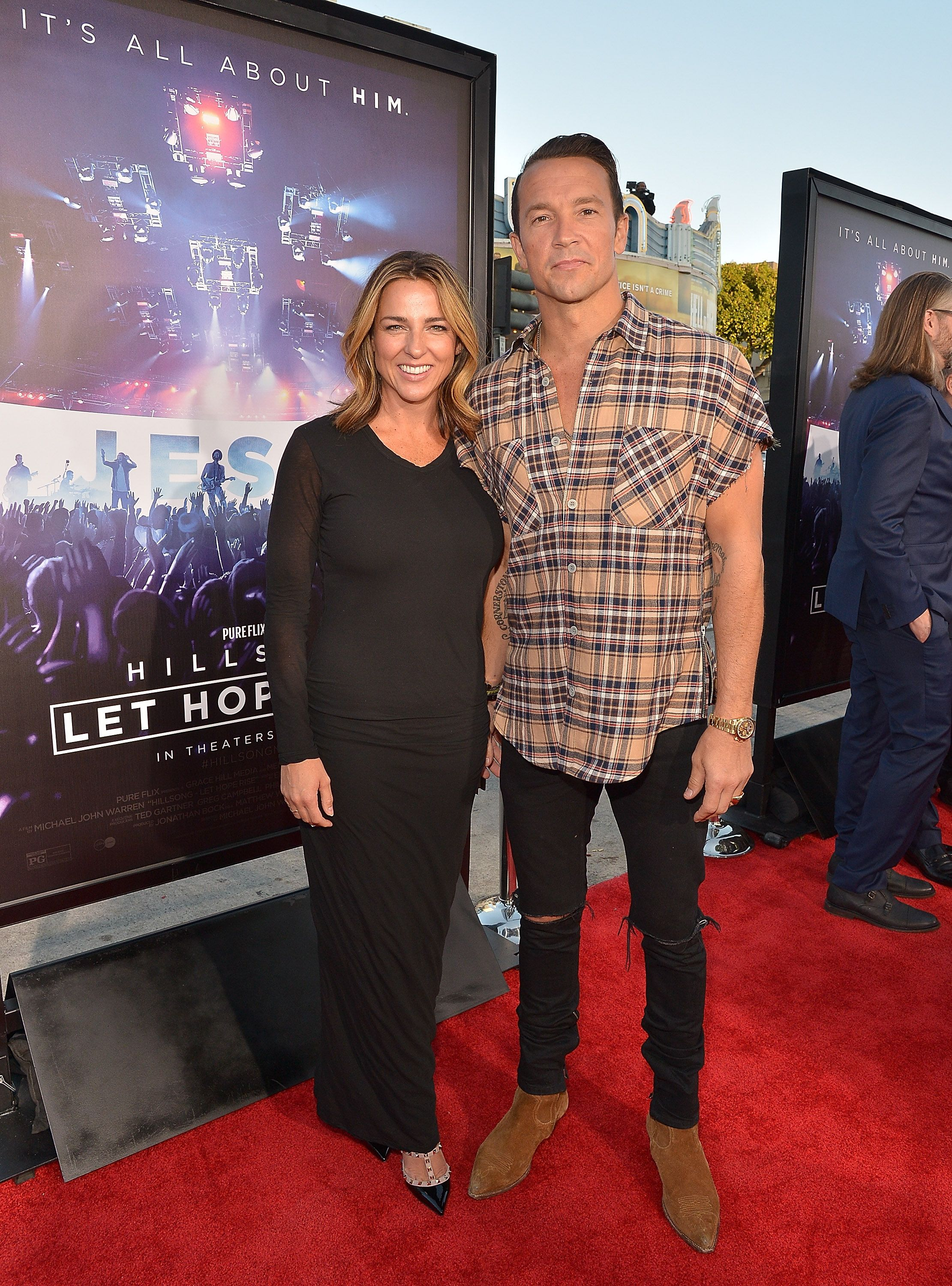 """Laura and Carl Lentz at the """"Hillsong - Let Hope Rise"""" premiere on September 13, 2016, in Los Angeles, California 