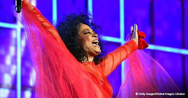 Happy birthday to me!' Diana Ross stuns in red dress during her 75th birthday Grammys performance