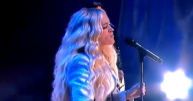 Carrie Underwood Wows Fans as She Performs in a Sparkling White Pant Suit at the CMT Awards