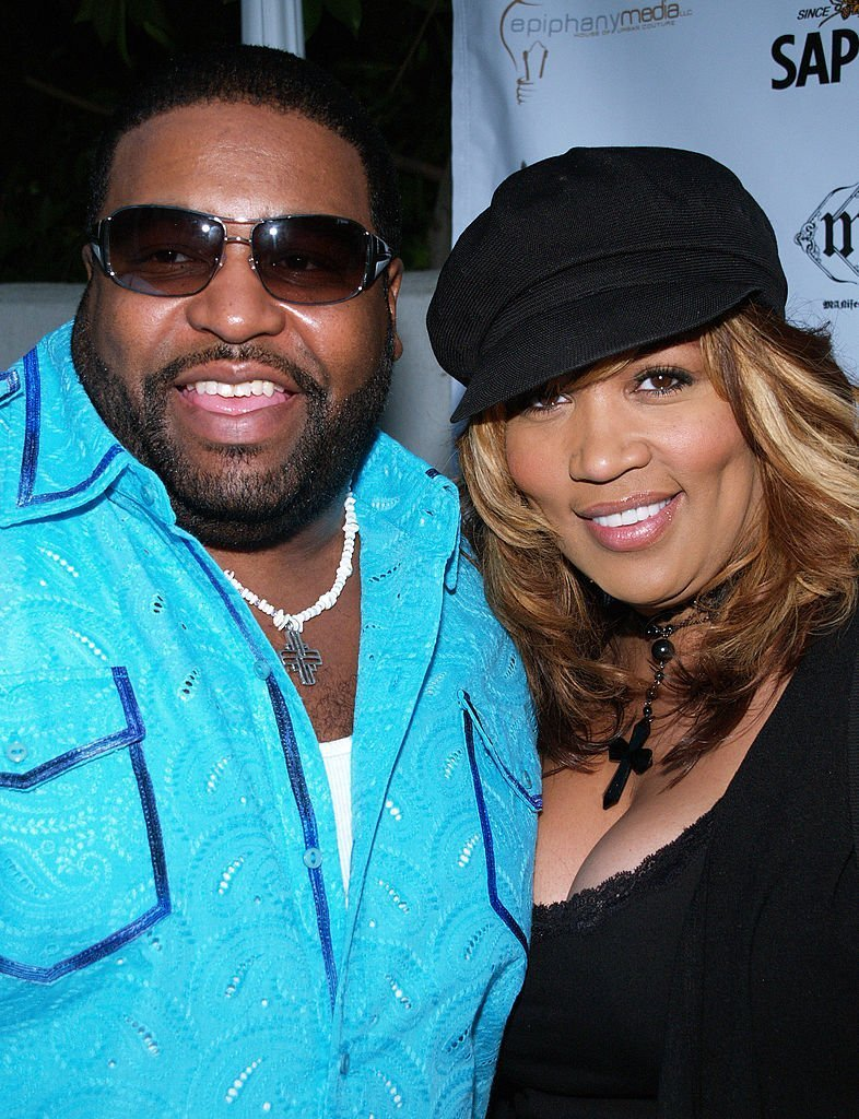Gerald LeVert and Kym Whitley during Sapporo & 42 Below Presents Jaime Pressly and Hill Harper's Adopt-A-School Initiative at RJ Cutler's Estate in Los Angeles | Getty Images
