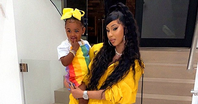 Cardi B and Daughter Kulture Look Cute Using a Pink Cat Filter in New Instagram Photo