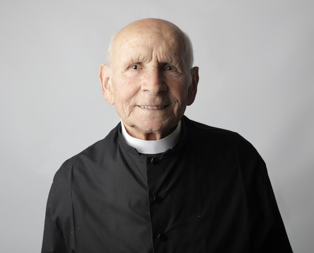 A portrait of an old priest. | Photo: Shutterstock