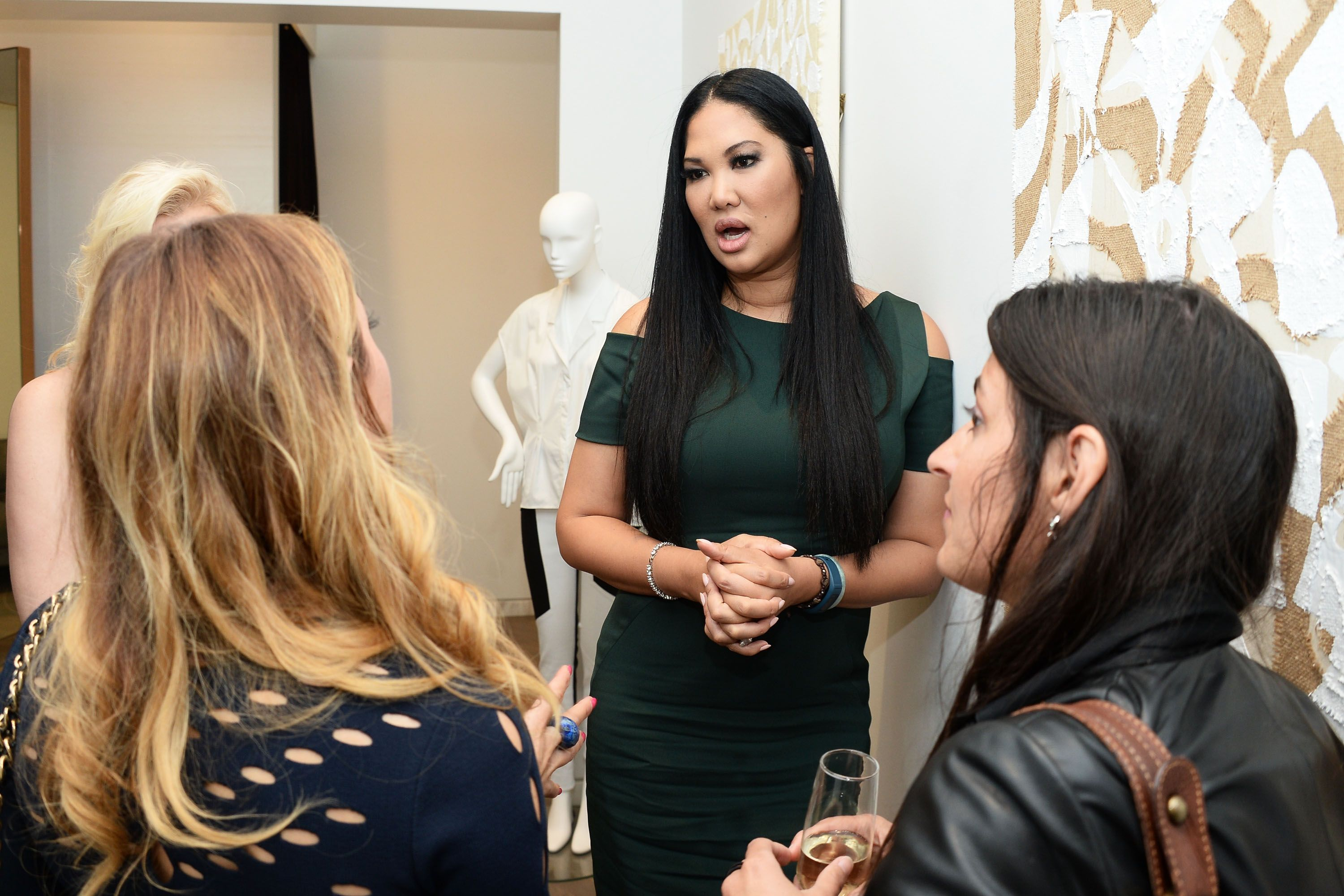 Kimora Lee Simmons speaks to guests at an event | Source: Getty Images/GlobalImagesUkraine
