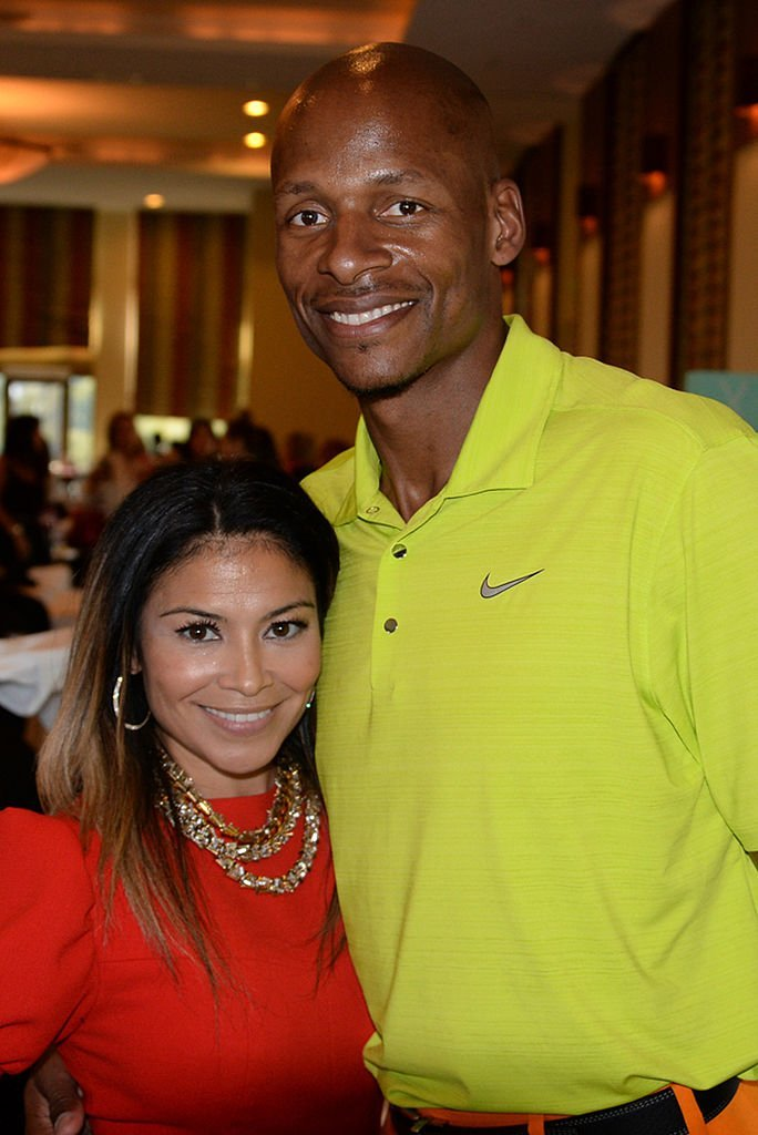 Ray Allen of the Miami Heat and his wife Shannon during his Charity Golf Tournament on January 27, 2014 in Miami, Florida. | Source: Getty Images.