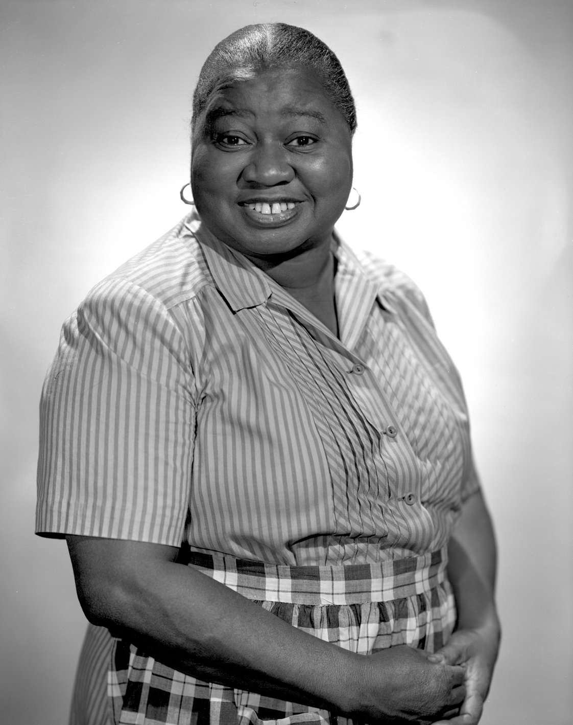 Hattie McDaniel, star of the CBS Radio program, The Beulah Show. November 14, 1947. Hollywood, CA. | Photo by CBS via Getty Images