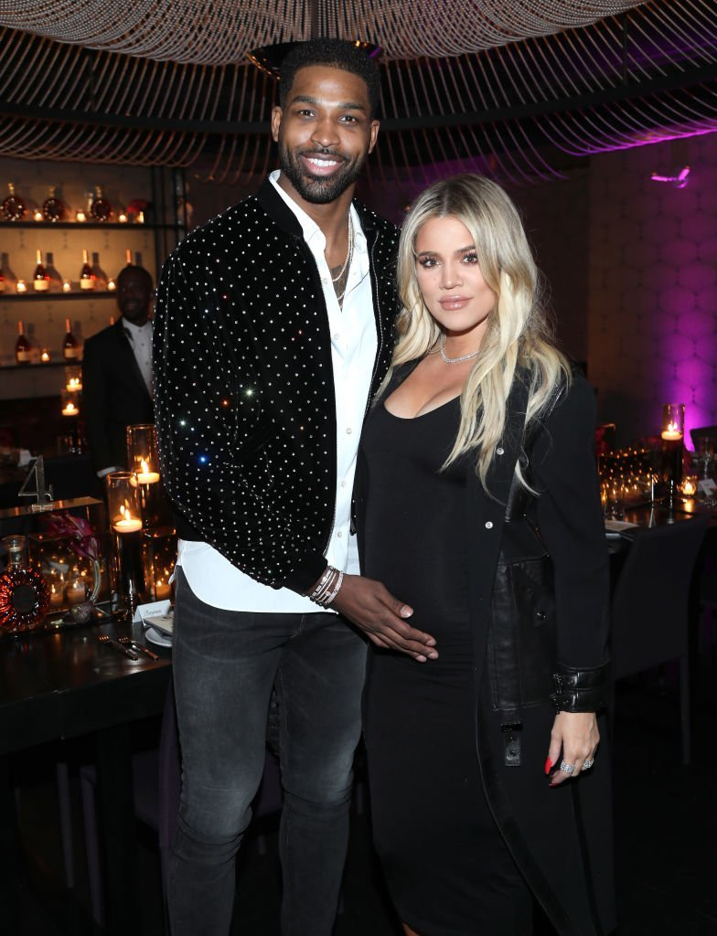 "Tristan Thompson and Khloe Kardashian attend the Klutch Sports Group ""More Than A Game"" Dinner. 
