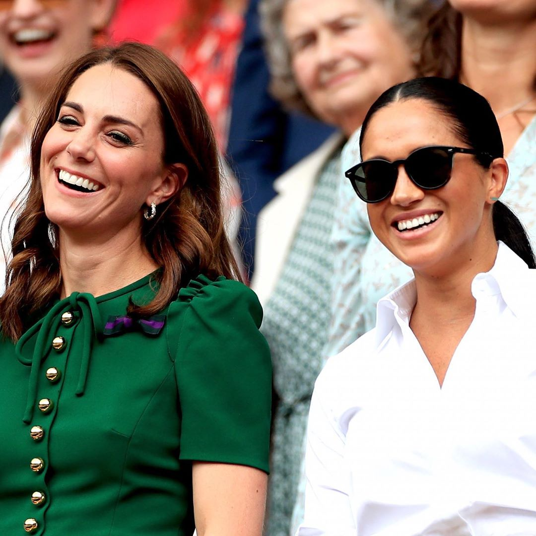 Meghan and Kate were all smiles at Wimbledon. | Source: Instagram/SussexRoyal
