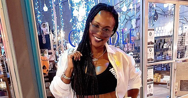 Torrei Hart Shows off Fit Figure in Black Top and White Shorts after Losing Some Weight